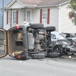 Distracted driving leads to roll-over