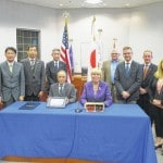 Delegation from Sakata, Japan, visits Delaware City Council special meeting