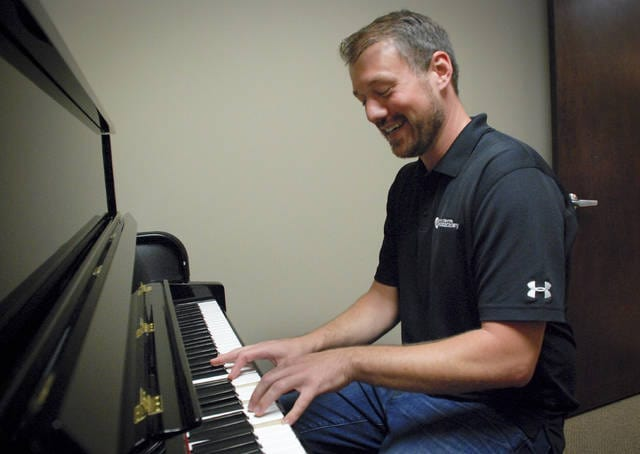 Chad Ebert said he has been doing what he loves since he was about 15 years old, playing and teaching music. Ebert is the director and founder of the Powell Academy of Music and now the Lewis Center Music Academy. When he gets a moment he sneaks away to one of the music rooms of the school to play a little jazz on the piano.