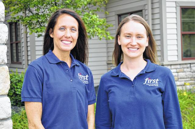 SourcePoint's service coordinators Angie Lucas, left, and Emily Stockton, right, are working in collaboration with the Delaware's fire and police departments, and code enforcement to expand the FIRST service coordination program to all residents in the city of Delaware.