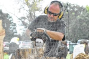 Chainsaw artist David Crego displays creativity at fair