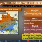 Weather service: Severe storms possible tonight