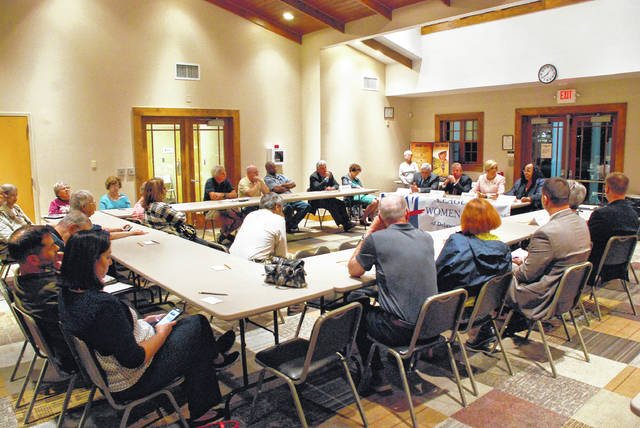 League of Women Voters of Delaware County hosted a candidates forum Tuesday for those running for the Delaware City School District Board of Education and Delaware City Council.
