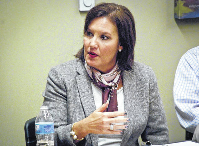 Lt. Gov. Mary Taylor met with local small business owners at the Orange Branch of the Delaware County District Library Tuesday about their concerns with today's job market.