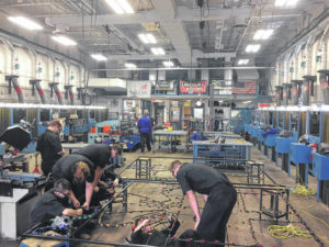 DACC students fuse welding and Christmas to create a festive display