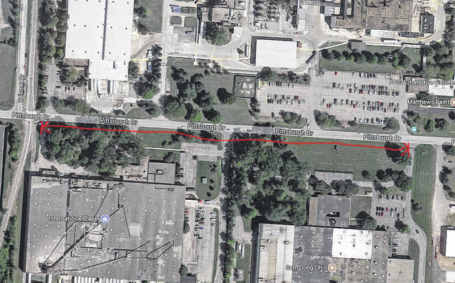 The City of Delaware Utilities Department will be cleaning and shaping ditches along the south side of Pittsburgh Drive on Wednesday and Thursday. To allow for the work to be completed, the eastbound lane of Pittsburgh Drive will be closed between the railroad tracks and the entrance to Sam Dong Ohio Inc. Traffic will be maintained by flaggers.