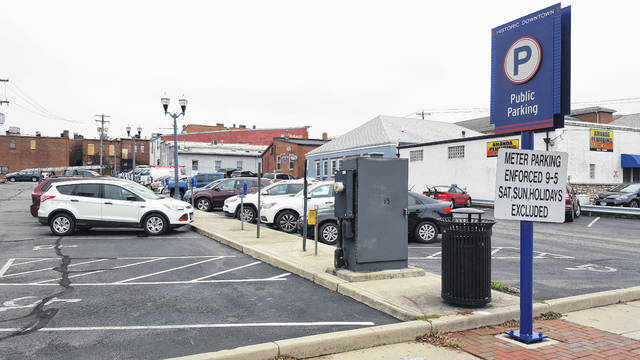 Pictured is the East William Street metered parking lot in downtown Delaware. One change the city is considering under its downtown parking implementation matrix is extending the hours the metered spaces are enforced. Currently, the city enforces its parking meters from 9 a.m. to 5 p.m. on weekdays. The city is considering the pros and cons of increasing the enforcement time from 8 a.m. to 8 p.m.