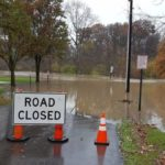 Heavy rain caused flooding Saturday in Delaware County