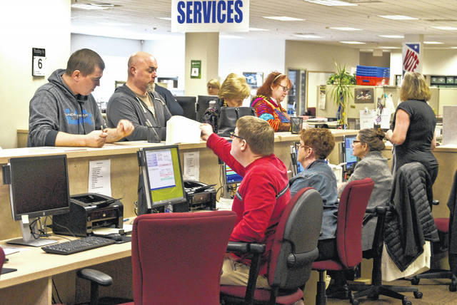 The polls opened at 6:30 a.m. today for the General Election. Anthony Saadey, Delaware County Board of Elections deputy director, said Monday was a busy day at the board office because of a large number of last-minute absentee voters. Polls will be open until 7:30 p.m. today.