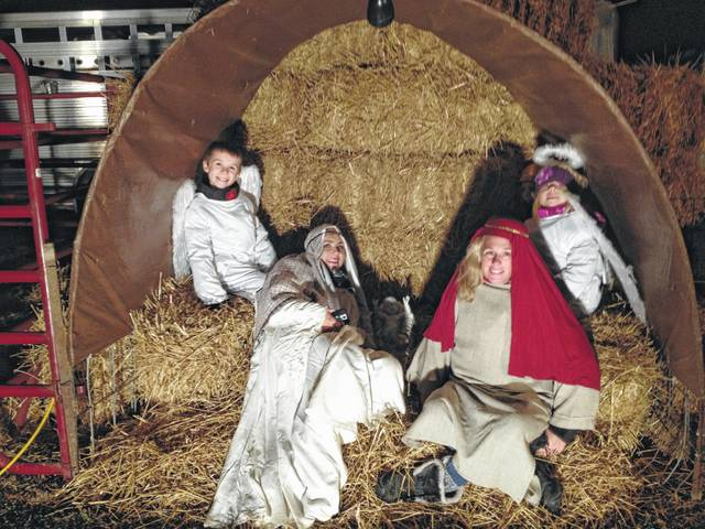 During the annual Christmas in Ashley event, local children will dress up in costumes for the live nativity on High Street across from the Methodist church. The event is scheduled for Saturday, Dec. 2 from 6 to 9 p.m.