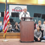 WWII sailor calls for vigilance and unity in Powell Veterans Day address