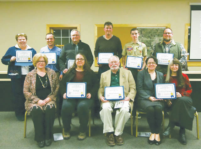 Winners of the 2017 Keep Delaware County Beautiful awards were honored Dec. 6 at Berlin Township Hall.