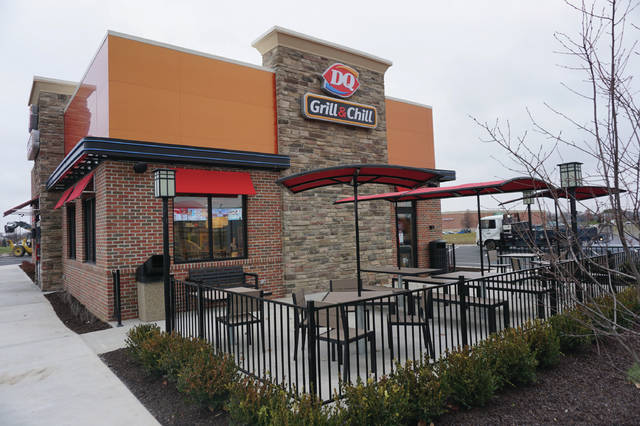 The patio of the new Dairy Queen in Sunbury.
