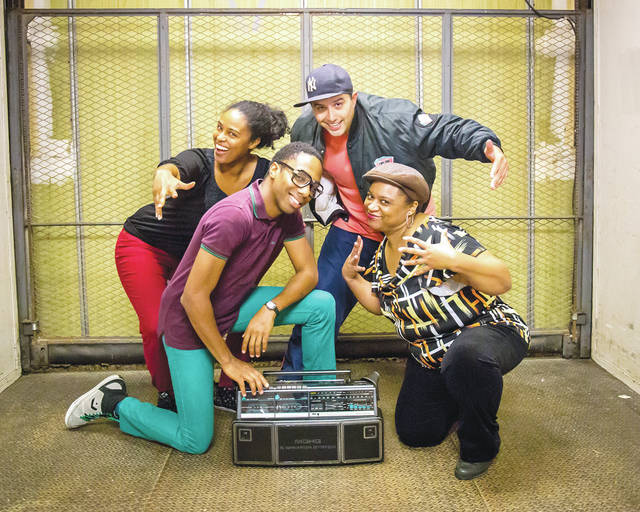 Available Light Theatre will perform 'How We Got On' on Saturday, Jan. 20 at Ohio Wesleyan University. The Idris Goodwin play features, from left, Treasure Davidson, David Glover, Rudy Frias, and Wilma Hatton. Showtime is 8 p.m. at the Chappelear Drama Center, 45 Rowland Ave., Delaware.