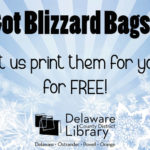 Delaware County District Library offers free blizzard bag printing