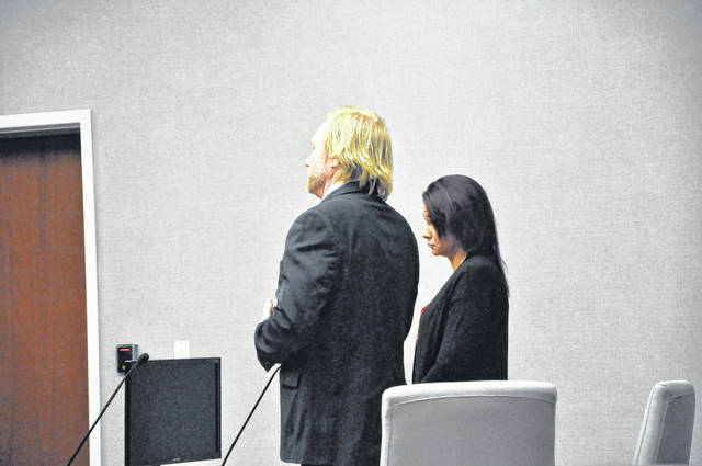 Alana Hissong and her attorney Dominic Mango attended a change of plea hearing Thursday morning in Delaware County Common Pleas Court. She will be sentenced on Feb. 12.