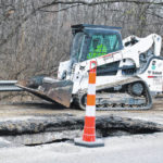 Sinkhole reduces US 23 to one lane south of Delaware