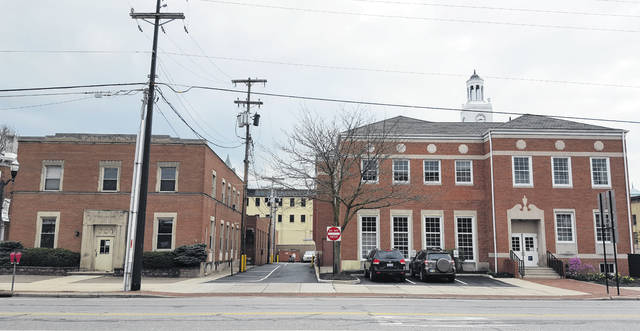 City Council on Monday approved plans to renovate the second floor of the City Hall Annex building, left, for use as additional city office space. The former home of The Delaware Gazette, the annex building will be accessible from Delaware City Hall, right, via a second floor connector bridge that will cost an estimated $285,000 to construct.
