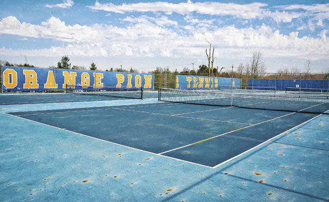 Olentangy Orange High School's tennis courts are going to be relocated to Olentangy Orange Middle School to make room for additional parking.