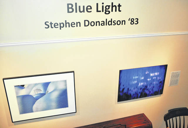 Pictured are two photographs by Ohio Wesleyan University graduate Stephen Donaldson. A number of Donaldson's photographs are currently on display in the Mowry Alumni Center at OWU.