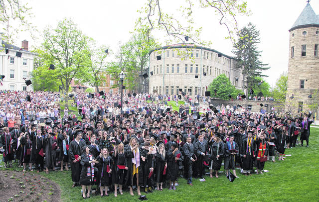 Ohio Wesleyan University celebrated its 174th commencement ceremony May 12. The OWU Class of 2018 includes 323 spring, summer and fall graduates.