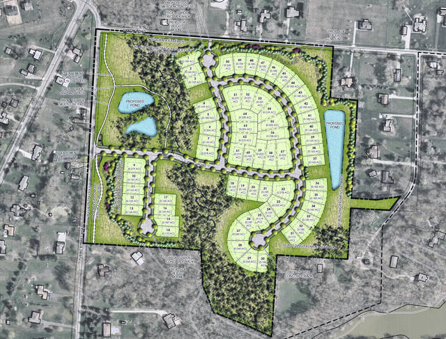 Pictured is the illustrative plan drawing for the Ravines at Hoover.