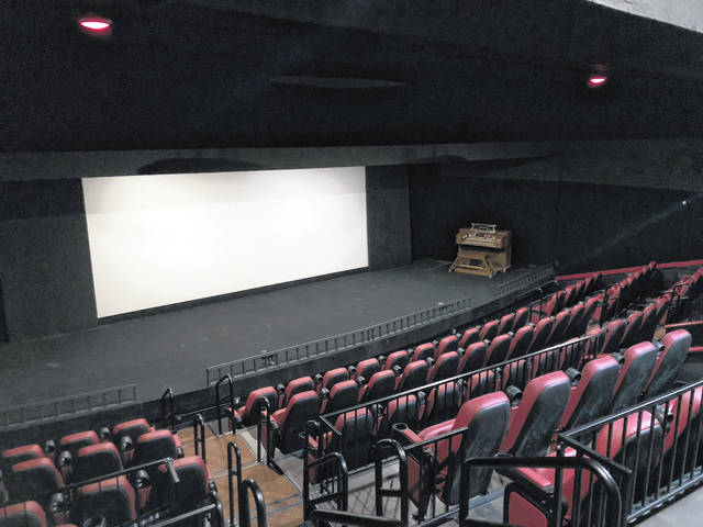Pictured is the newly renovated balcony theater at the Strand Theatre, 28 E. Winter St., Delaware. During a dedication ceremony on Tuesday, the balcony theater was official named The Brown Family Generations Theater in honor of the Manos Brown family.