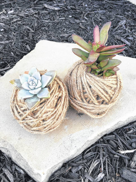 """Pictured is a craft idea the maker calls """"Buckeye Love."""""""