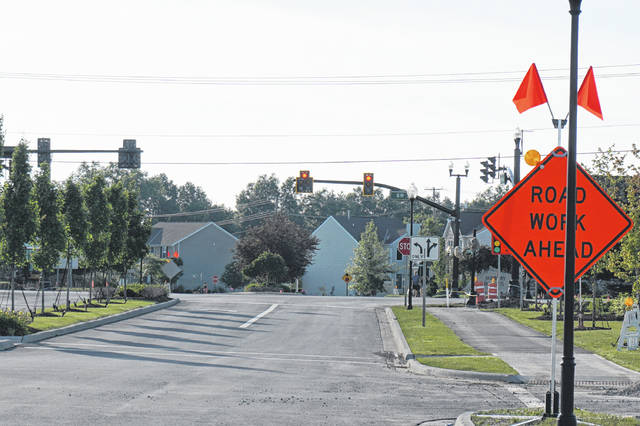 A new traffic light at Sunbury Meadows Drive and state Route 3 in Sunbury will go into operation on June 13.