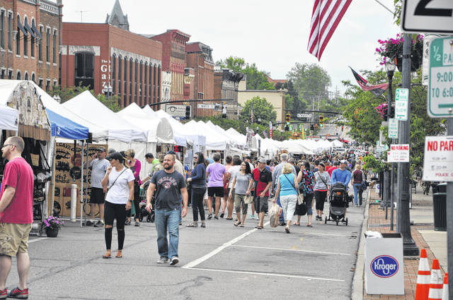 Sandusky Street in downtown Delaware was packed with vendors and festivalgoers on day two of the 45th annual Delaware Arts Festival on May 20.