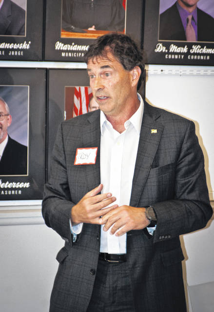 """Troy Balderson, the Republican nominee for Ohio's 12th Congressional District, told the Delaware County Republican Women's Club on Wednesday evening that the GOP win for the congressional seat will come from Delaware County, but he needed their support. He told the group that this is where the numbers are, but """"The National Democratic Party is coming after us."""""""