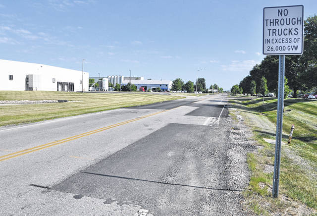 The surface of South Houk Road, pictured, near the Pittsburgh Drive intersection in Delaware has seen better days. City Council on Monday authorized City Manager Tom Homan to apply for grants to help fund repairs to the entire stretch of Houk Road from Pittsburgh Drive to Merrick Boulevard.