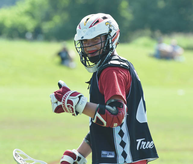Nathan Montgomery was all smiles during his first game back on the field at a tournament with his traveling team (True Ohio) following his Long QT Syndrome diagnosis.
