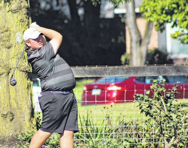 Trey Rath, an Olentangy Liberty graduate, competes at the OHSAA State Golf Tournament last fall at OSU.