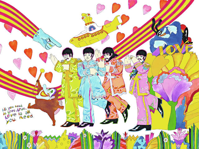 """Campbell's artwork from """"The Beatles"""" cartoon series."""