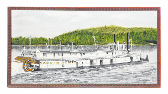 Pictured is an image of the Calvin Verity riverboat.