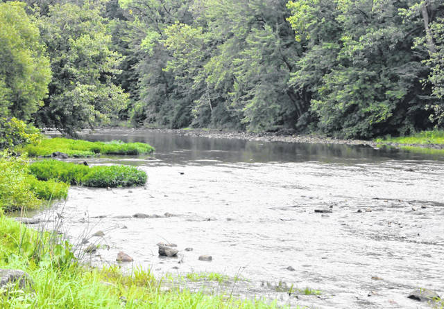 Pictured is a view of the Olentangy River from Mingo Park in Delaware.