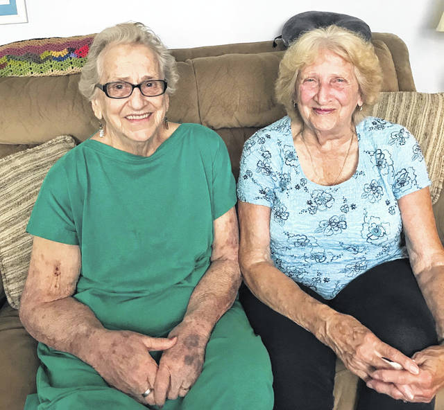 Pictured are Naoma Van Brimmer, left, and Lois Jean Weiser, right.
