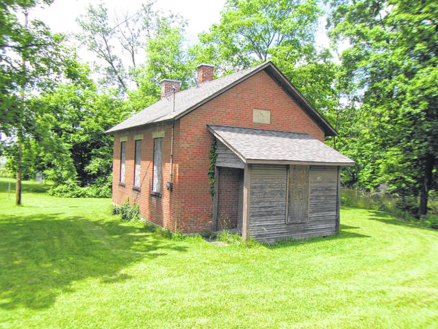 Pictured is the Red Bank one-room school locacted on Red Bank Road in Delaware County.