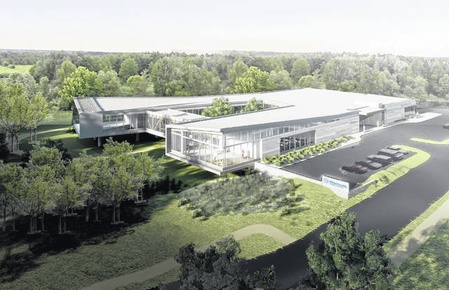 Pictured is an updated rendering of the OhioHealth Neuroscience Wellness Center set to open in 2019 near Riverside Methodist Hospital in Columbus.