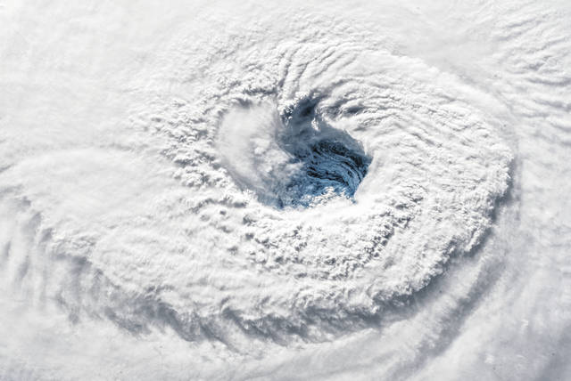"""""""Ever stared down the gaping eye of a category 4 hurricane? It's chilling, even from space,"""" said European Space Agency Astronaut Alexander Gerst, who is currently living and working aboard the International Space Station as a member of the Expedition 56 crew."""