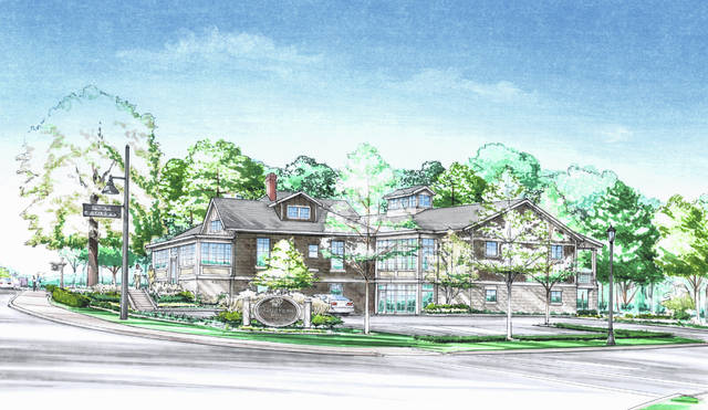 Pictured is a rendering of the proposed Day Dream Inn, which would sit at  the