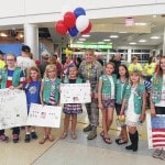 Scouts welcome veterans home