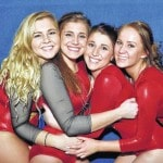Gymnastics seniors recognized