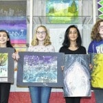 Four middle school students get art awards