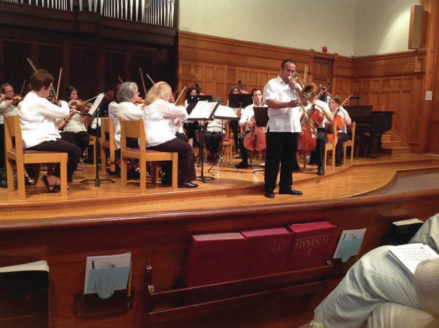 The Symphony's Strings and Jaime Morales perform.