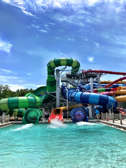 Sandusky, Ohio — Five new waterslides in the outdoor waterpark, including heart-pounding thrill rides and family raft rides.