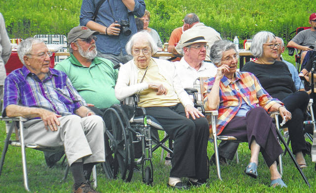 Charlotte Gallant (in wheelchair) celebrated her 100th birthday at Gallant Park, which she donated to Preservation Parks 20 years ago.