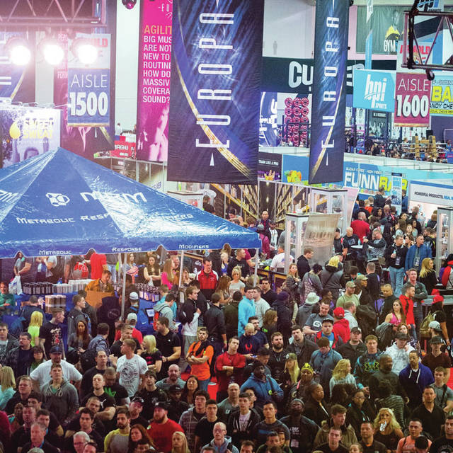 The scene at the Arnold Sports Festival in Columbus. There are also similar events in Africa, Asia, Australia, Europe and South America.