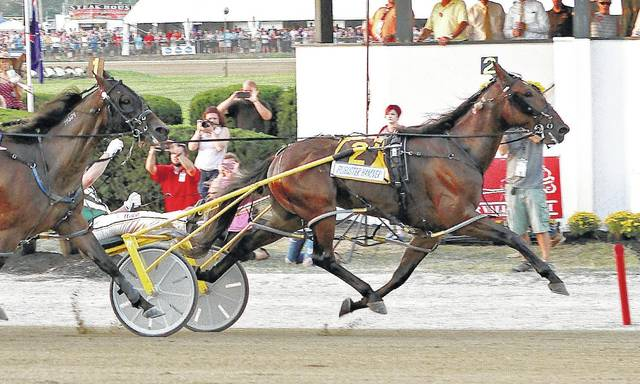 Filibuster Hanover and Yannick Gingras wins the $590,400 Little Brown Jug in 1:50.